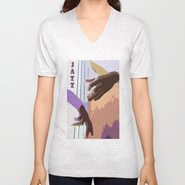 Jazz Illustration Unisex V-Neck