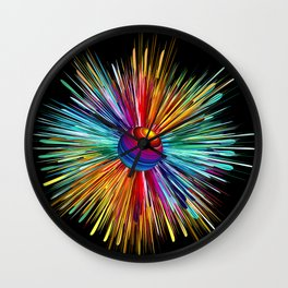 Color Explosion Three Wall Clock