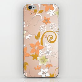 Flowers wall paper 8 iPhone Skin