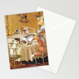 Tiny as a soul, there comes the rabbit Stationery Cards