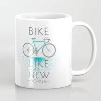 bike Mugs featuring bike by Claudio Nozza Art