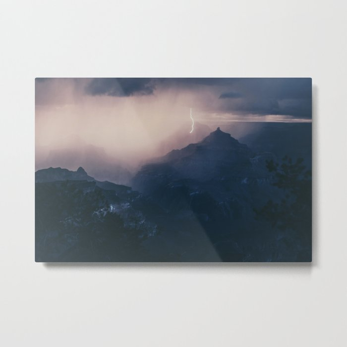 Lightning Crashing Metal Print