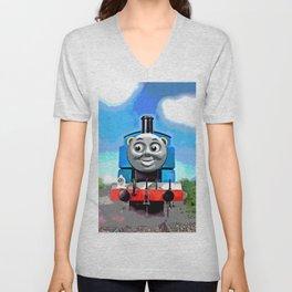 Thomas Has A Smile Unisex V-Neck