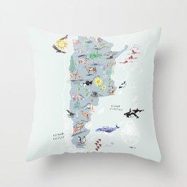 Argentina Ilustrada Throw Pillow