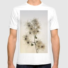 Florales · plant end 7 MEDIUM White Mens Fitted Tee