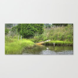 Marsh Boat Canvas Print