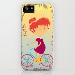 The Girl on the Bike, iPhone Case
