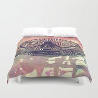 psych Duvet Covers featuring Psych Trap by ArtAngel