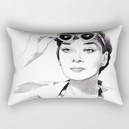 Audrey Hepburn - Summer girl Rectangular Pillow