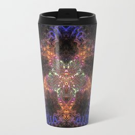 Blue Fractal Star Travel Mug