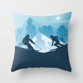 Skiing Winter Sport on Demand Sale Design Throw Pillow