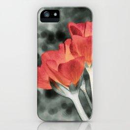 Coral Orange Peach Flowers iPhone Case
