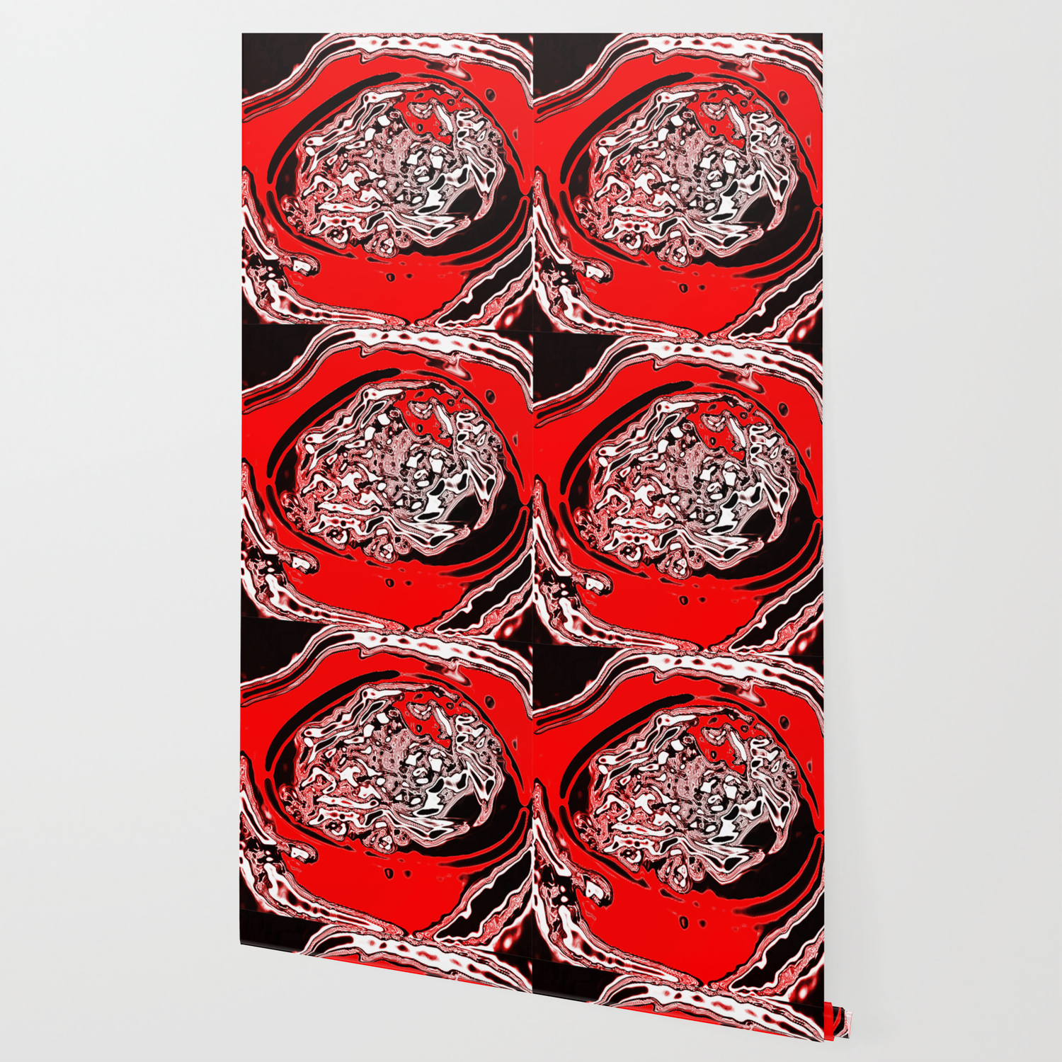 Red Black White Abstract Wallpaper By Awesomepalette Society6