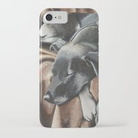 gizmo iPhone & iPod Cases featuring Gizmo by Athena Cooper
