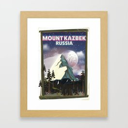 Mount Kazbek Russia. Framed Art Print