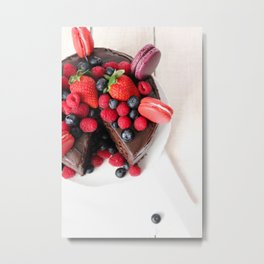 Chocolate Berry Extravaganza Metal Print