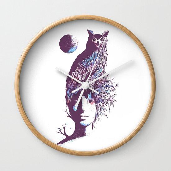 Night Watcher Wall Clock