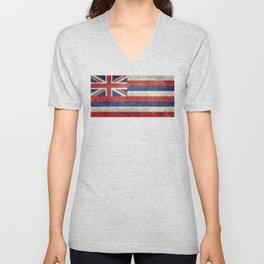 State flag of Hawaii - Vintage version Unisex V-Neck