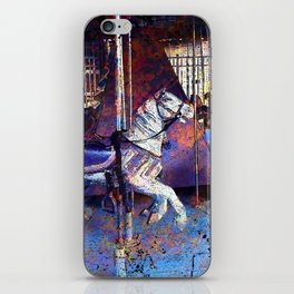 Haunted Halloween Carousel Ride iPhone Skin