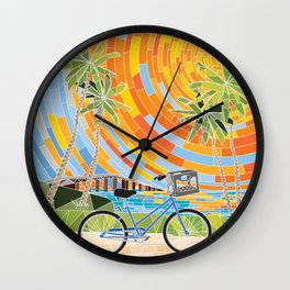 FL Keys Bicycle Wall Clock