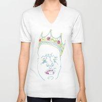biggie smalls V-neck T-shirts featuring Biggie by rarcomeus