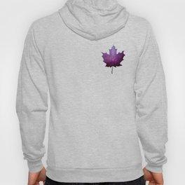 Purple Maple Leaf - Oh Canada Hoody