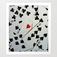 poker Art Prints featuring Poker by Jackie