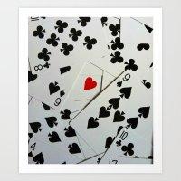 poker Art Prints featuring Poker by Jackie