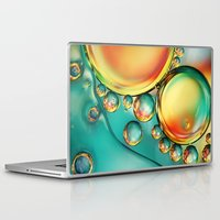 oil Laptop & iPad Skins featuring Oil and Water Wave by Sharon Johnstone