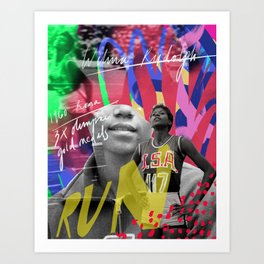 Wilma Rudolph - RUN! Art Print