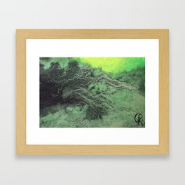 Fossil Fuels Original Mixed Media On Canvas, Abstract Painting Artwork, Contemporary Artist Photo Framed Art Print