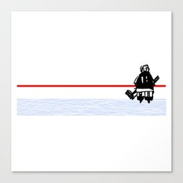 The Goalie - after a hockey game Canvas Print