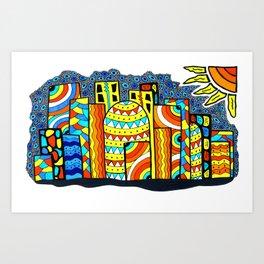 The city of Alex & Mattew Art Print