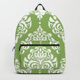 Green Damask Backpack