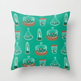 Mushroom Terrariums Throw Pillow