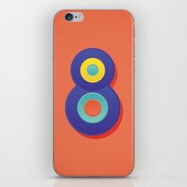 Alphabet Drop Caps Series- 8 iPhone Skin