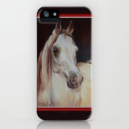 Arabian Horse on the dark background iPhone Case