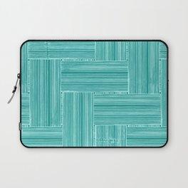 Woven Bamboo Texture Sea Green Laptop Sleeve