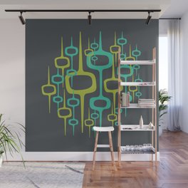 Mid Century Modern — Abstract Beehive Honeycomb Pattern Wall Mural