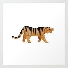 Origami Tiger Art Print