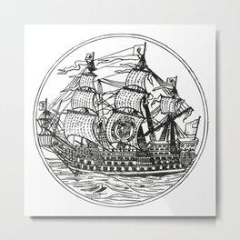 Galleon Metal Print