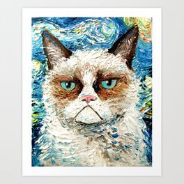 Grumpy Cat Is Still Grumpy Art Print