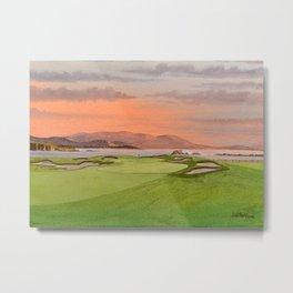 Pebble Beach Golf Course Hole 17 Metal Print