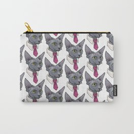 business cat is ready Carry-All Pouch