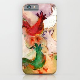 Pecking Chickens iPhone Case