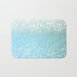 Mermaid Sea Foam Ocean Ombre Glitter Bath Mat