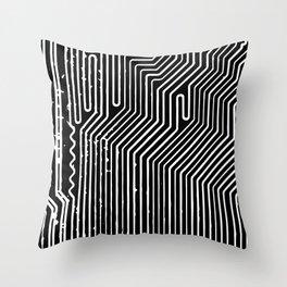 Computer Circuit Board Throw Pillow