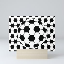 Black and White 3D Ball pattern deign Mini Art Print