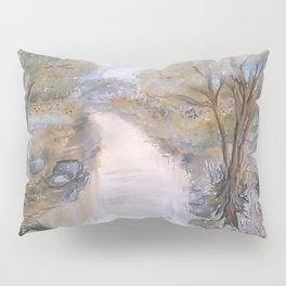 By The River Bank Pillow Sham