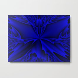 Midnight Blue Abstract 5 Metal Print